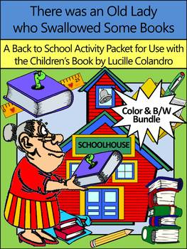 Back to School Activities: Old Lady Who Swallowed Some Books Bundle