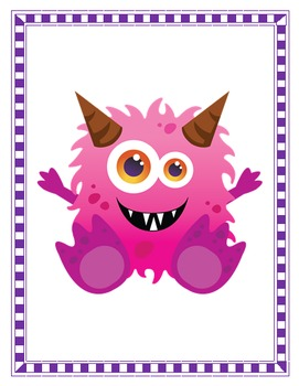 Back to School Activities - Our Class Monster: Positive Behavior Management Tool