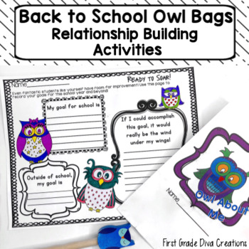 Back to School Ideas~ All About Me Bag Activities ~ Owl Ab