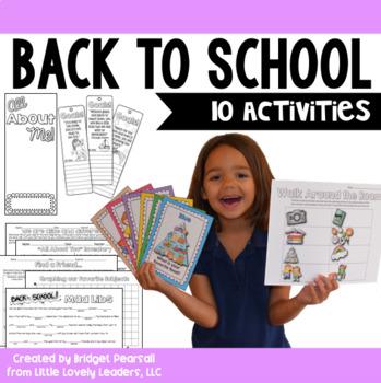 Back to School Activities Pack