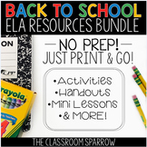 Back to School ELA Activities - Writing for the First Days and Year Round