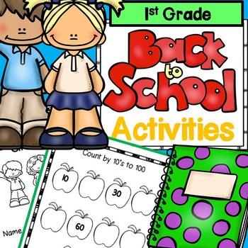 First Week of School 1st Grade: No Prep ELA and Math Activ
