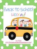Back to School Activities Packet (K, 1, 2)