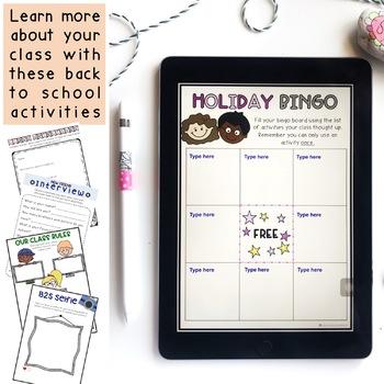 Back to School Activities {Paper + Digital} Grade 1 & 2 Australia