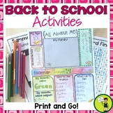 Back to School Activities - Print and Go!