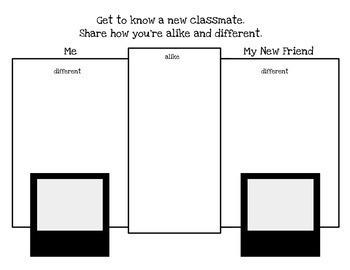 Back to  School Activities- Printable/ No Prep