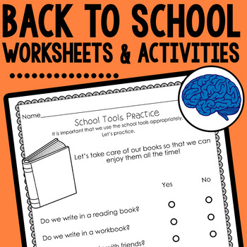 Back to School Activities & Visual (Hands-on Rules, Procedures & Expectations)