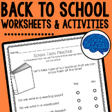 Back to School Activities & Visual (Hands-on Rules, Proced