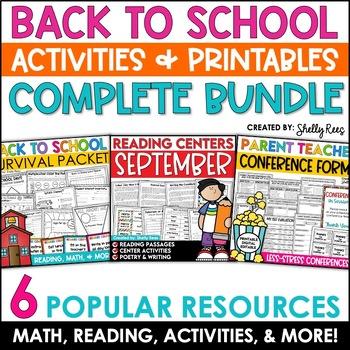 Back to School Activities - SUPER BUNDLE!