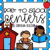 Back to School Themed Centers - Common Core Standards Included