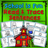 Back to School Activities : Sentence Tracing with Sight Words - Just Print & Go!