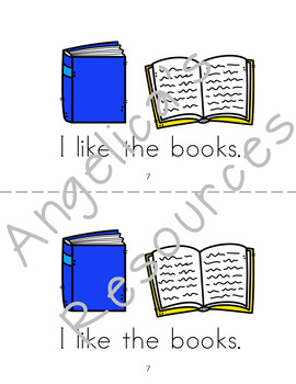 Back to School Activities : Sight Word Mini Reader - School Theme
