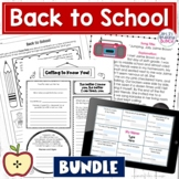 Back to School Activities | 2 Editable and Digital | Bundle