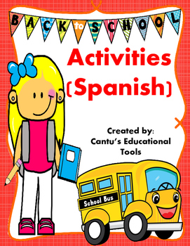 Back to School Activities (Spanish)