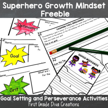 Free Growth Mindset Printables~Superhero Themed