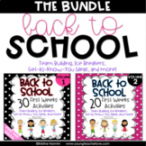 Back to School Activities Team Building First Week of School Activities BUNDLE