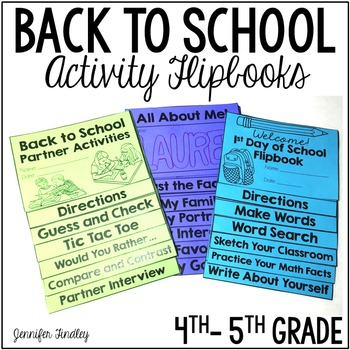 Back to School Activities {Three Flipbooks}