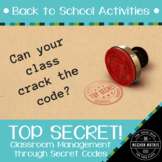 Back to School Activities - Positive Classroom Management with Secret Codes