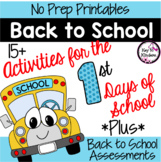 Back to School Activities and Assessments