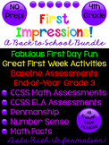 Back to School Activities and Assessments! First Day Fun too! 4th Grade!