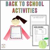 Back to School Activities and Biopoem