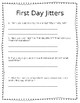 """Back to School Activities, and """"First Day Jitters"""""""