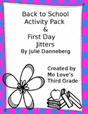 "Back to School Activities, and ""First Day Jitters"""
