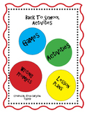 Back to School Activities and Forms