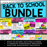 Back to School Activities and Forms | Classroom/Behavior M