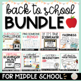 Back to School Activities and Icebreakers Bundle Middle School Special Education