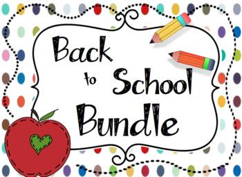 Back to School Activities and Teacher Pack