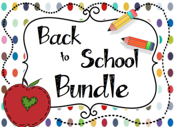 Back to School Activities and Teacher Pack