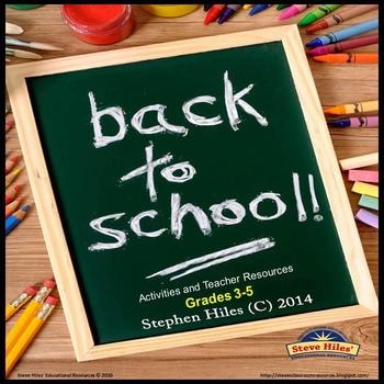 Back to School: Activities and Teacher Resources for Grades 3-5