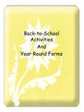 Back-to-School Activities and Year Round Forms