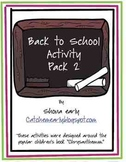 Back to School Activities for 1st Grade Set 2