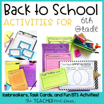 Back to School   Back to School Activities for 6th Grade