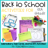 Back to School | Back to School Activities for 6th Grade