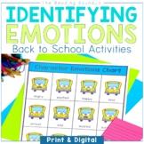 Back to School Activities   Analyzing Characters Feelings
