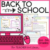 Back to School Activities Print and Digital
