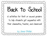 Back to School: Activities for First and Second Grade