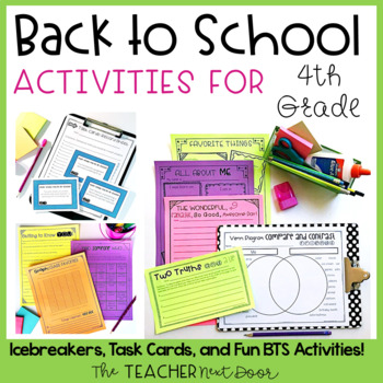 Back to School   Back to School Activities for 4th Grade