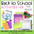 Back to School | Back to School Activities for 4th Grade