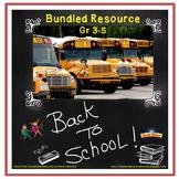Back to School Activities for Grades 3-5 (Bundle)