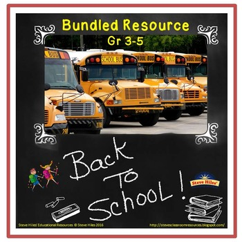 Back to School Activities for Grades 3-5 (Bundle)