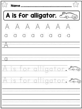 Beginning of Kindergarten Math and Literacy Activities