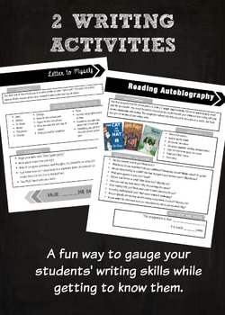 Back to School Writing Activities for Middle & High School