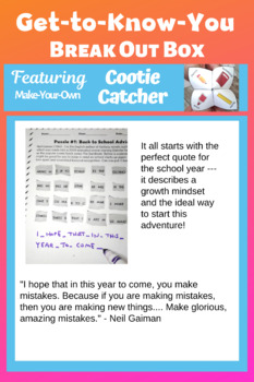 Get to Know You Worksheets: Back to School Activities for Middle School