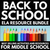 Back to School | Activities for Middle School English | Re