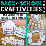 Back to School Activities for Name Writing, Colors, Letter