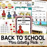 Back to School Activities for Pre-K, Preschool and Tots
